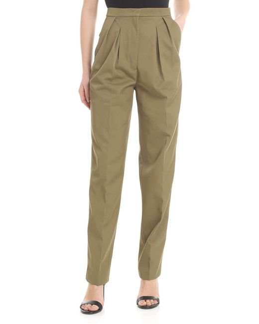 Golden Goose Deluxe Brand Felicia Trousers In Olive Green