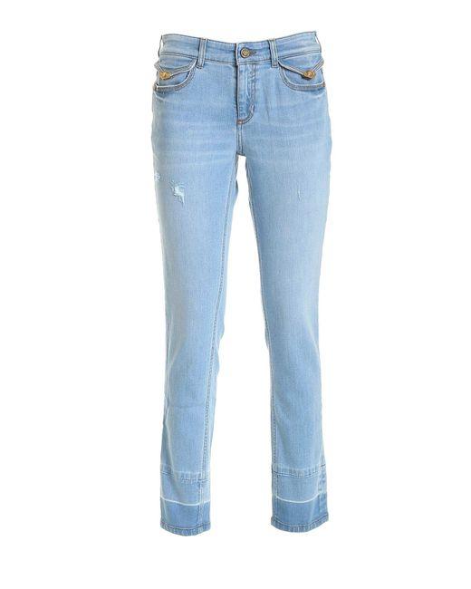 Versace Jeans Blue Logo Label Jeans