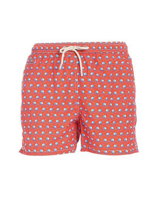 Mc2 Saint Barth Orange Dansa Swim Trunks for men