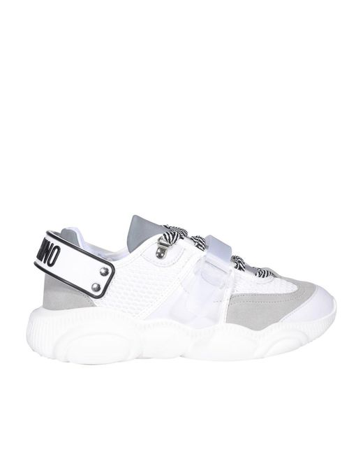 Moschino White Roller Skates Sneakers for men