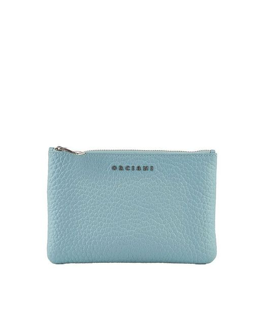 Orciani - Light Blue Leather Wallet - Lyst