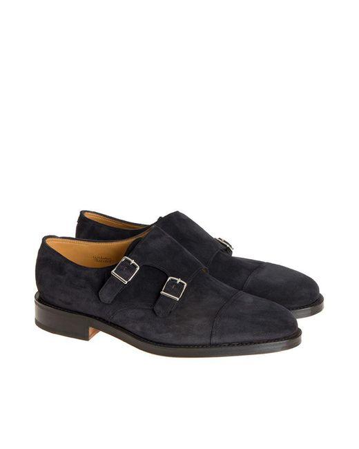 John Lobb - Black Monk Strap Shoes for Men - Lyst