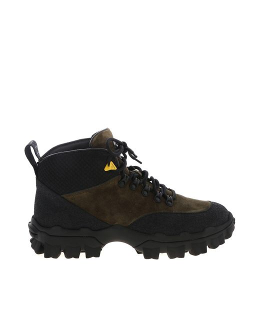Moncler Hektor Ankle Boots In Green for men