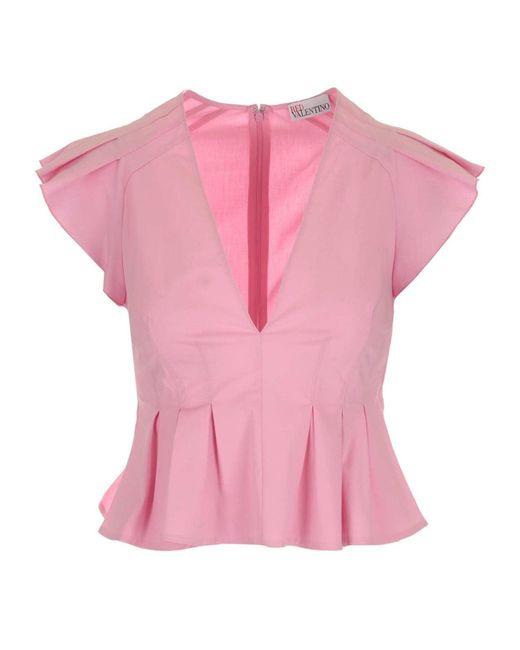 RED Valentino Pink Poplin Top