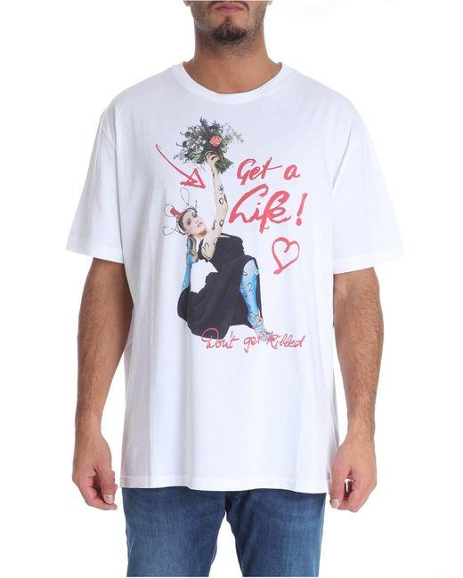 Vivienne Westwood White 'don't Get Killed' T-shirt for men