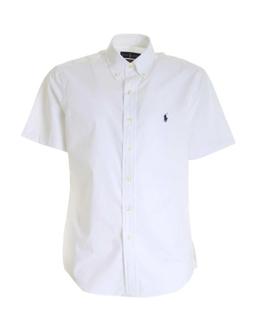 Polo Ralph Lauren White Logo Short Sleeved Shirt for men