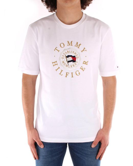 T-Shirt Tommy Icons Capsule Bianca di Tommy Hilfiger in White da Uomo
