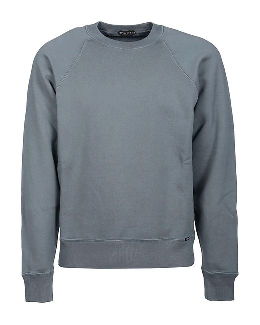 Tom Ford Gray Vintage Effect Cotton Sweater for men