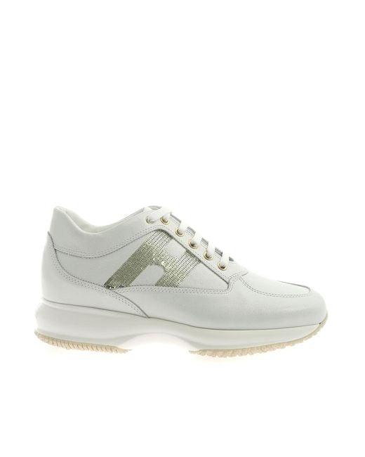 Hogan Interactive Sneakers Laminated White