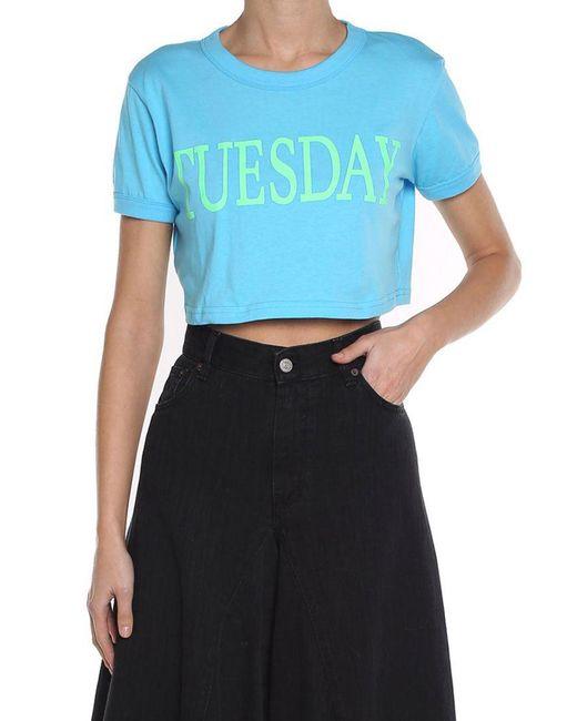 Alberta Ferretti - Blue T-shirts - Lyst