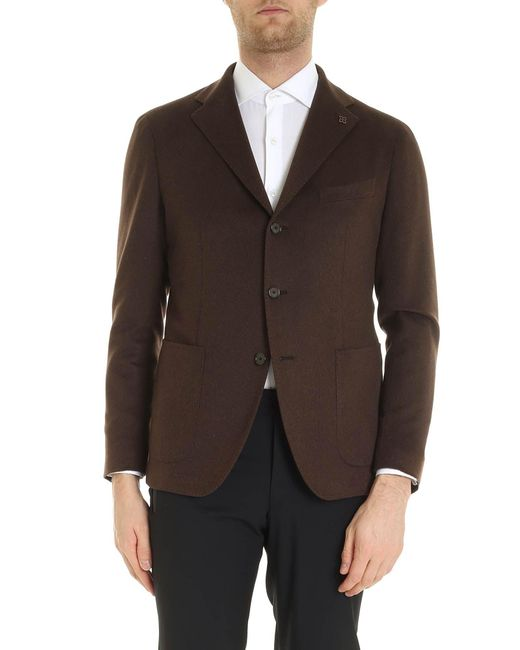 Tagliatore Brown Unlined Jacket for men