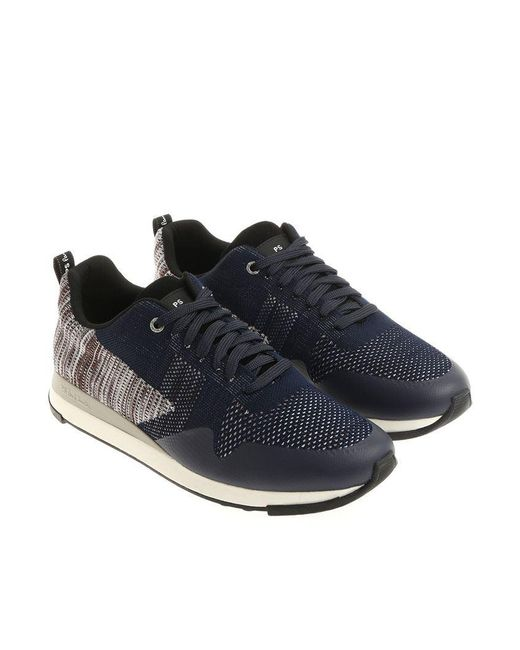 PS by Paul Smith - Blue, Gray And Brown Rapid Sneakers for Men - Lyst
