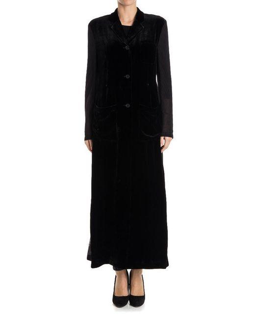 McQ Alexander McQueen - Black Velvet Coat - Lyst