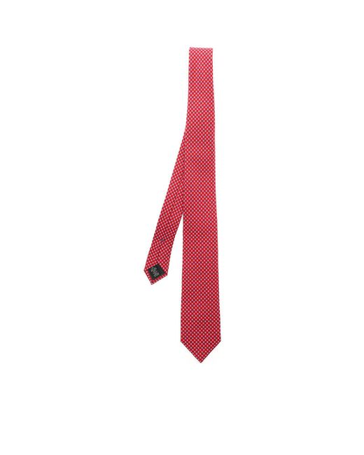 Ermenegildo Zegna - Red Tie With Burgundy And White Cashmere Motif for Men - Lyst