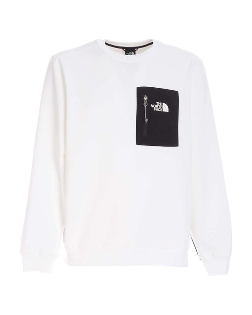 The North Face White Tech Sweatshirt for men