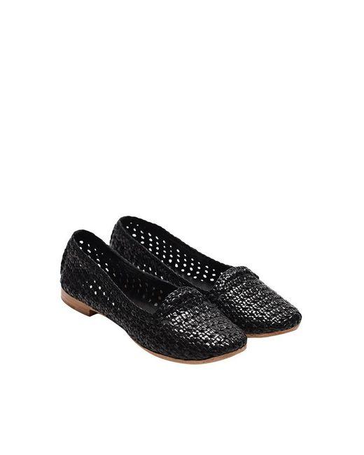 L'Autre Chose - Black Leather Slippers - Lyst