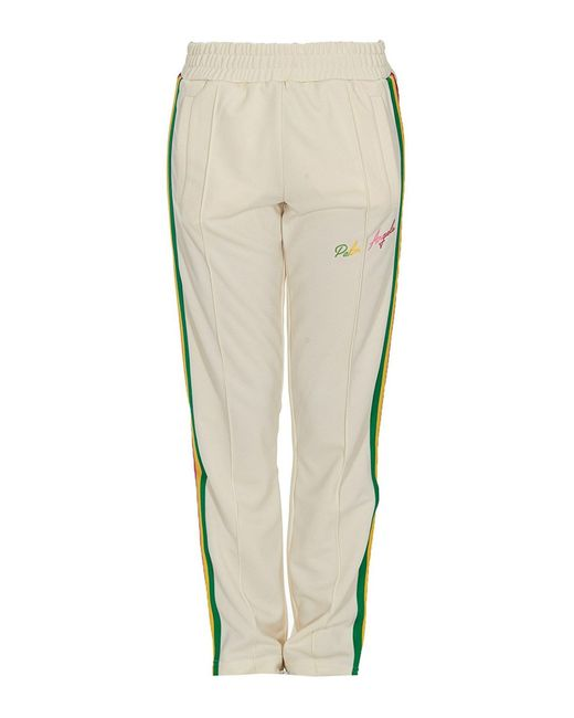 Palm Angels White Miami Contrasting Stripe Tracksuit Bottoms