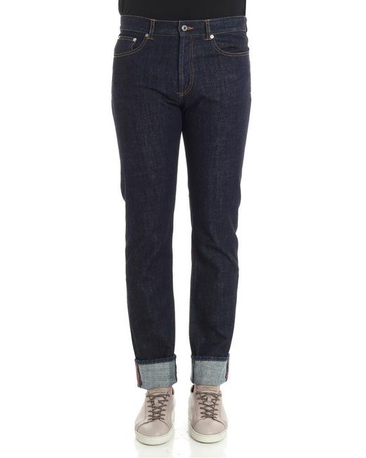 Givenchy - Blue Cotton Jeans for Men - Lyst