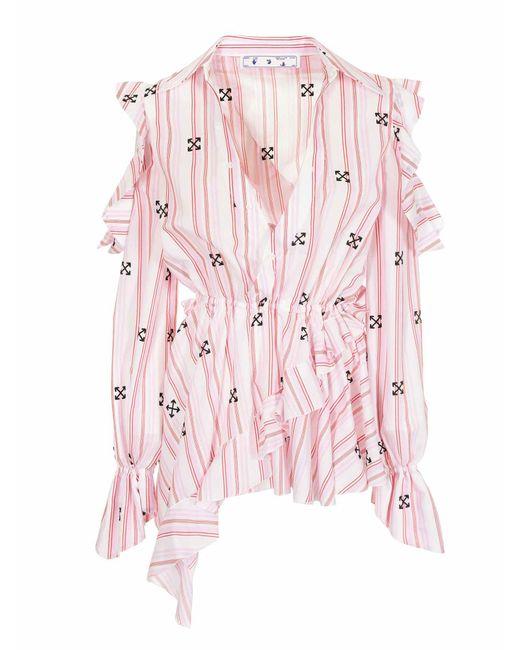 Blusa New Roman Rosa di Off-White c/o Virgil Abloh in Pink
