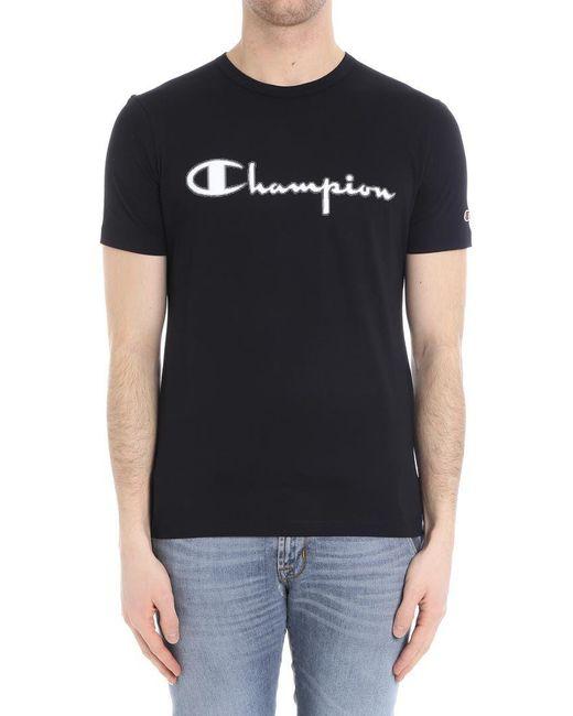 Paolo Pecora - Black T-shirt (champion Collaboration) for Men - Lyst