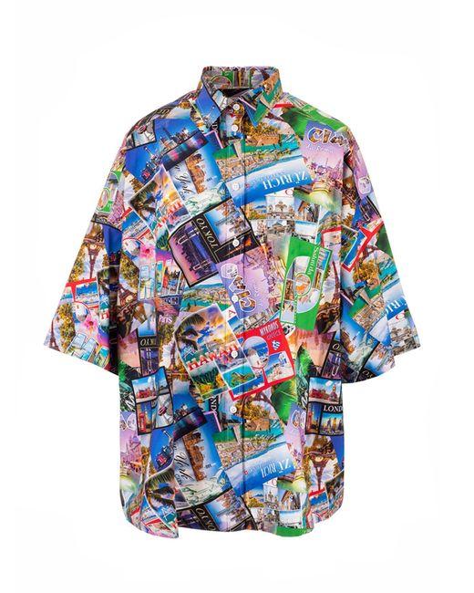 Balenciaga Blue Women's 595038tjlk98470 Multicolor Other Materials Shirt
