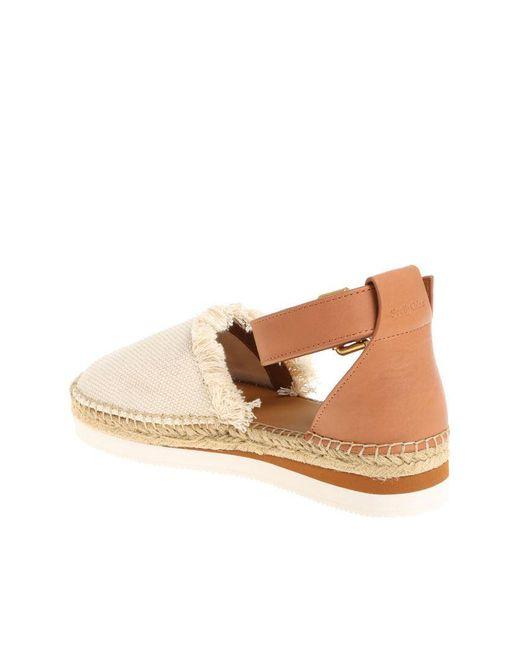 Beige fabric sandals See By Chlo xZJ0Jt