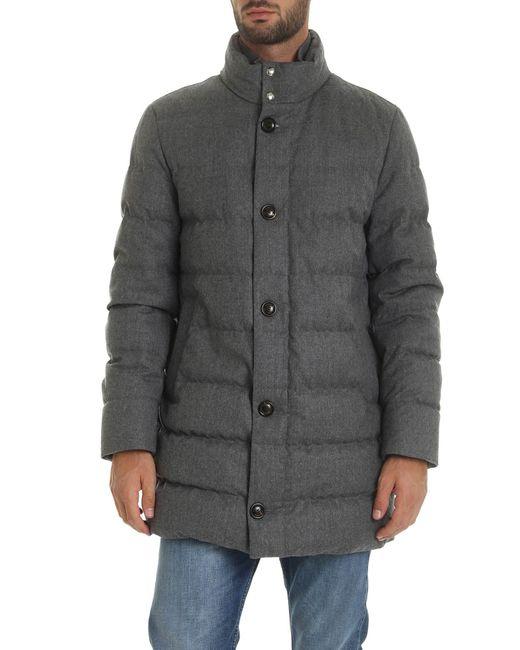 Moncler Gray Baudier Down Jacket In Grey for men