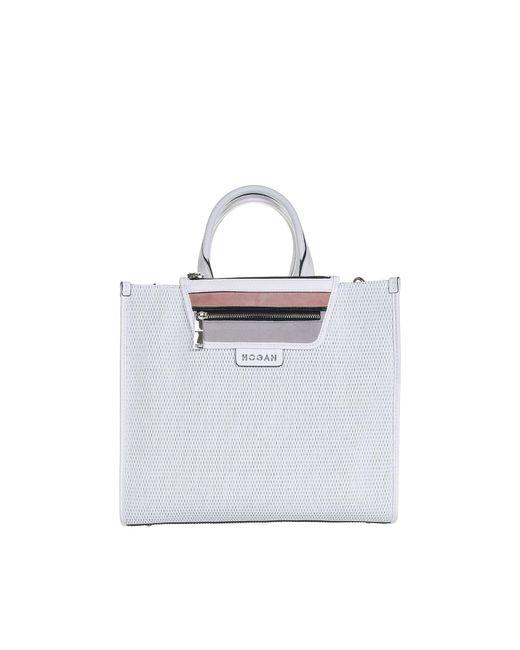 Hogan White Medium Shopping Bag