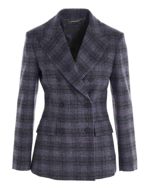 Alberta Ferretti Gray Prince Of Wales Jacket