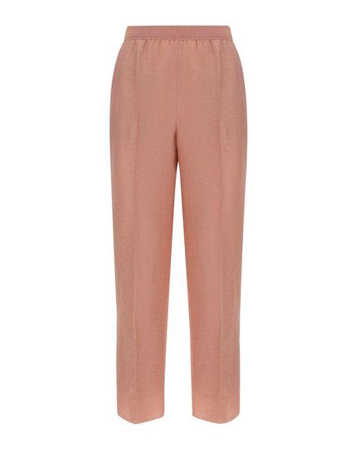 Agnona Pink Linen Trousers