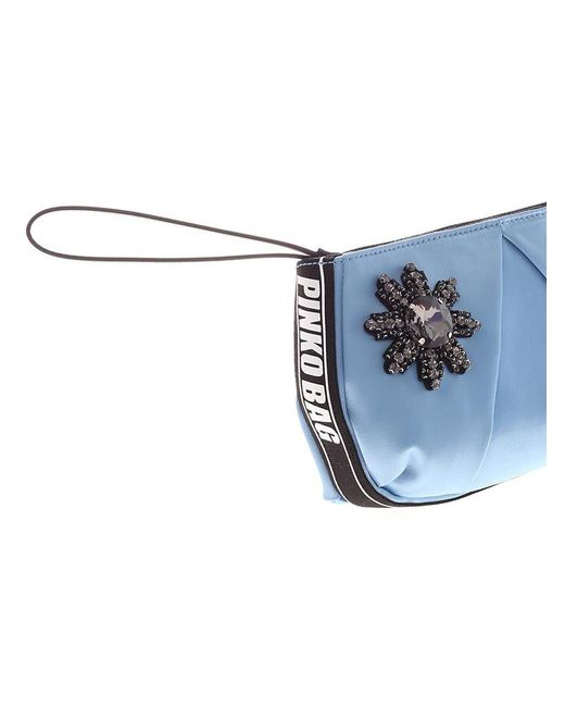 Light blue Carpione wrist clutch bag Pinko CMtM2zsTa