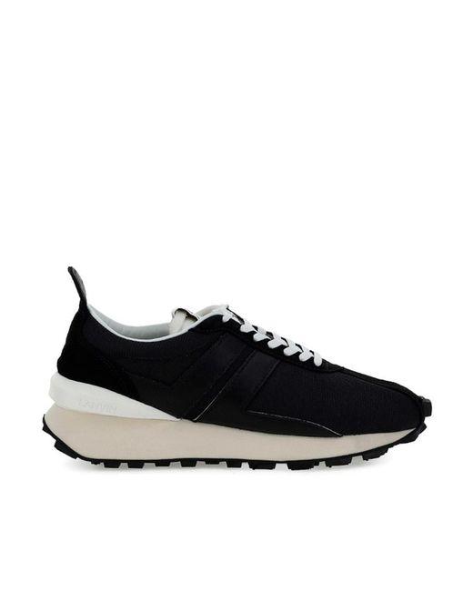 Lanvin Black Bumper Sneakers for men