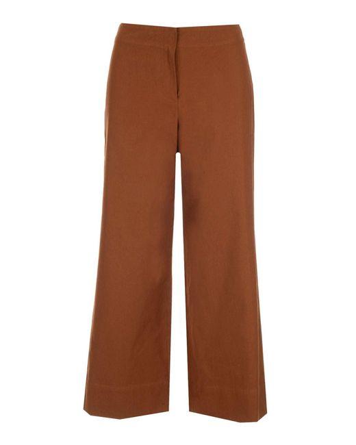 Max Mara Brown Wide Lonza Pants