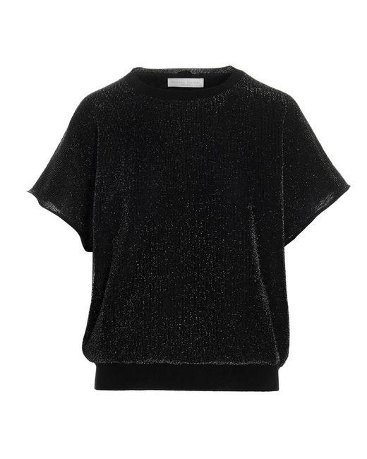 Fabiana Filippi Black Lurex Insert Sweater