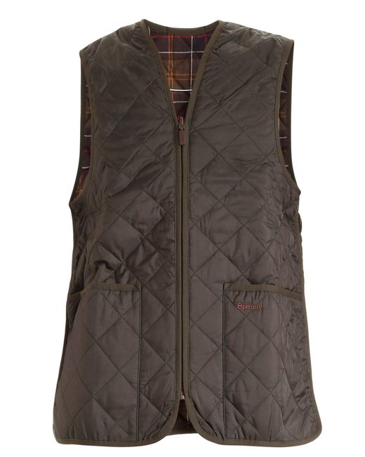 Barbour Green Waistcoat Featuring Front Pockets for men