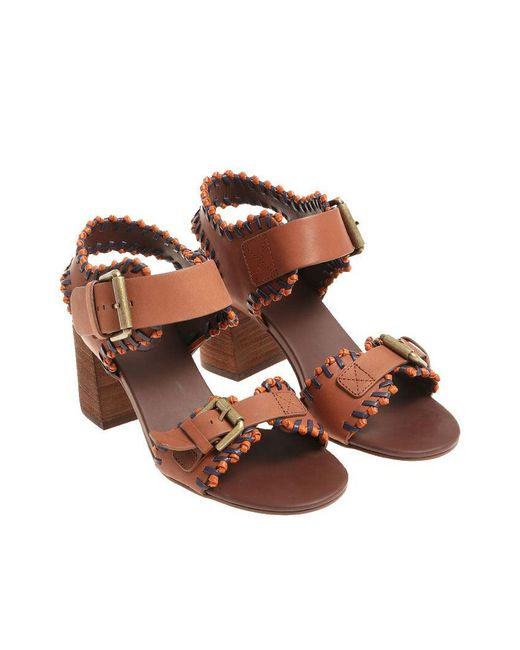 See By Chloé - Brown Tan Sandals - Lyst