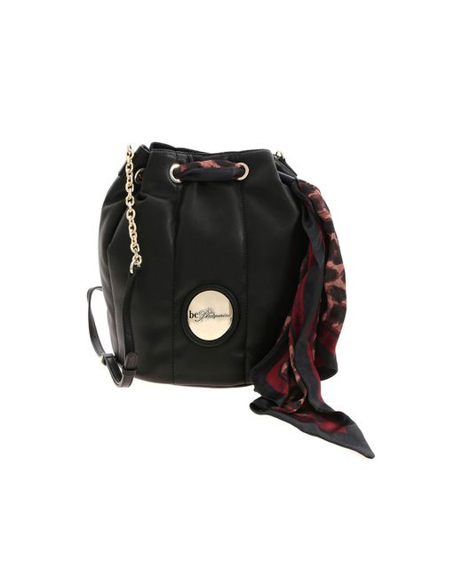 be Blumarine Black Scarf Bucket Bag
