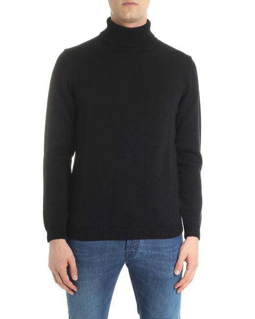 Roberto Collina - Black Knitted Turtleneck for Men - Lyst