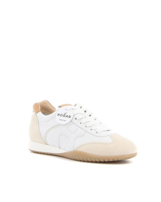 Hogan Suede Olympia Sneakers in White - Lyst