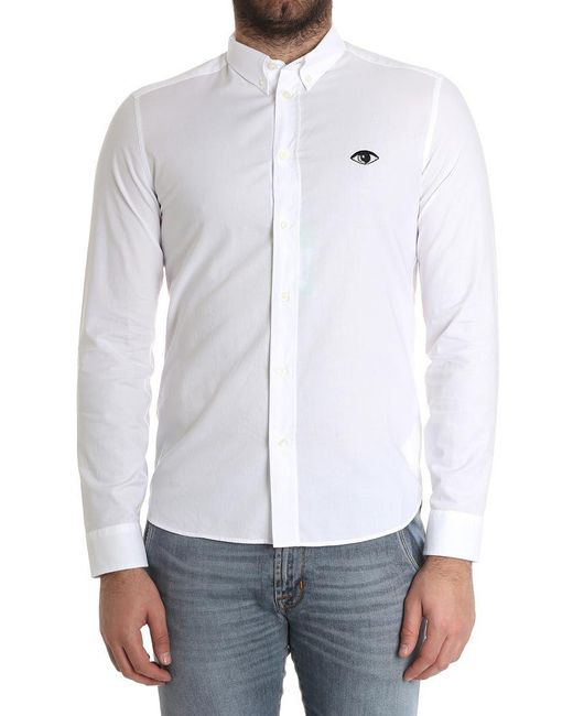 KENZO White Eye Shirt for men