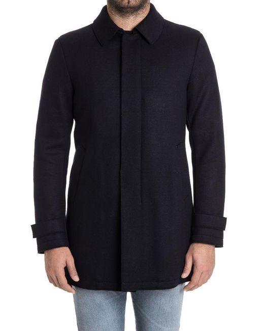 Herno - Blue Padded Coat for Men - Lyst