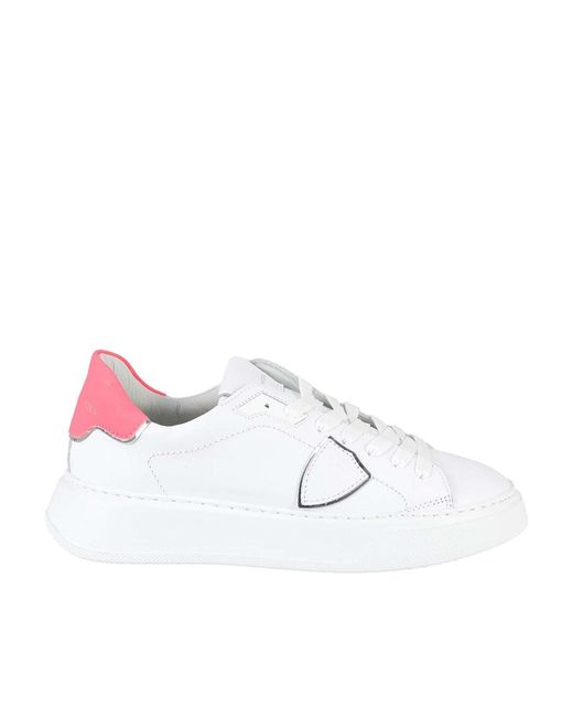 Philippe Model White Temple Sneakers
