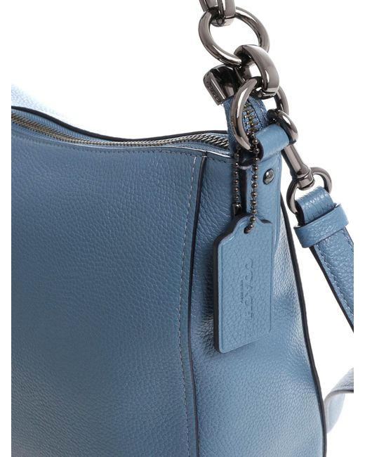 166cb7713bcc ... COACH - Light Blue Cross-body Bag - Lyst ...