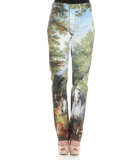 Vivienne Westwood - Green Multicolor Peppe 5 Pocket Trousers - Lyst