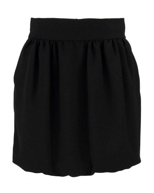 RED Valentino Black Dart Mini Skirt