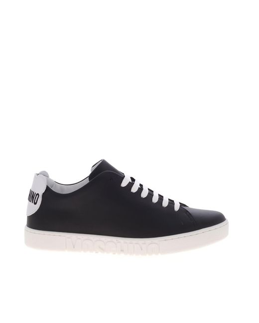 Moschino Black Teddy Logo And Patch Sneakers for men