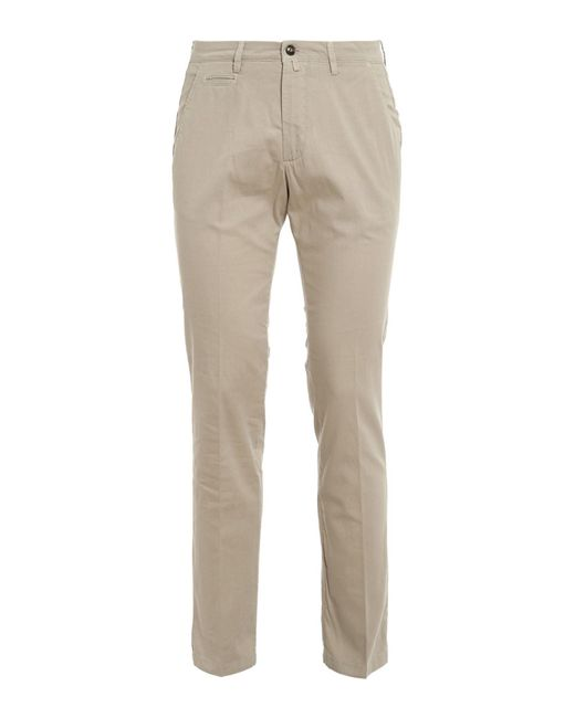 Briglia 1949 Natural Straight-leg Cotton Pants for men