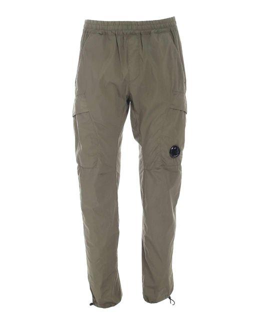 C P Company Green Logo Pants for men