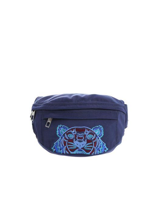 """Marsupio """"Tiger"""" Blu Ricamo Multicolor di KENZO in Blue da Uomo"""