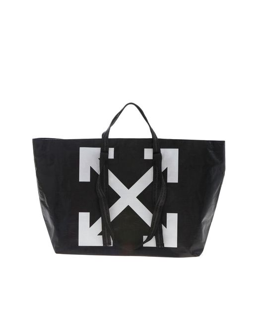 Off-White c/o Virgil Abloh White New Commercial Black Tote Bag